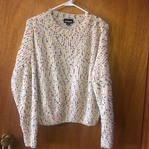 Cream/confetti sweater size medium